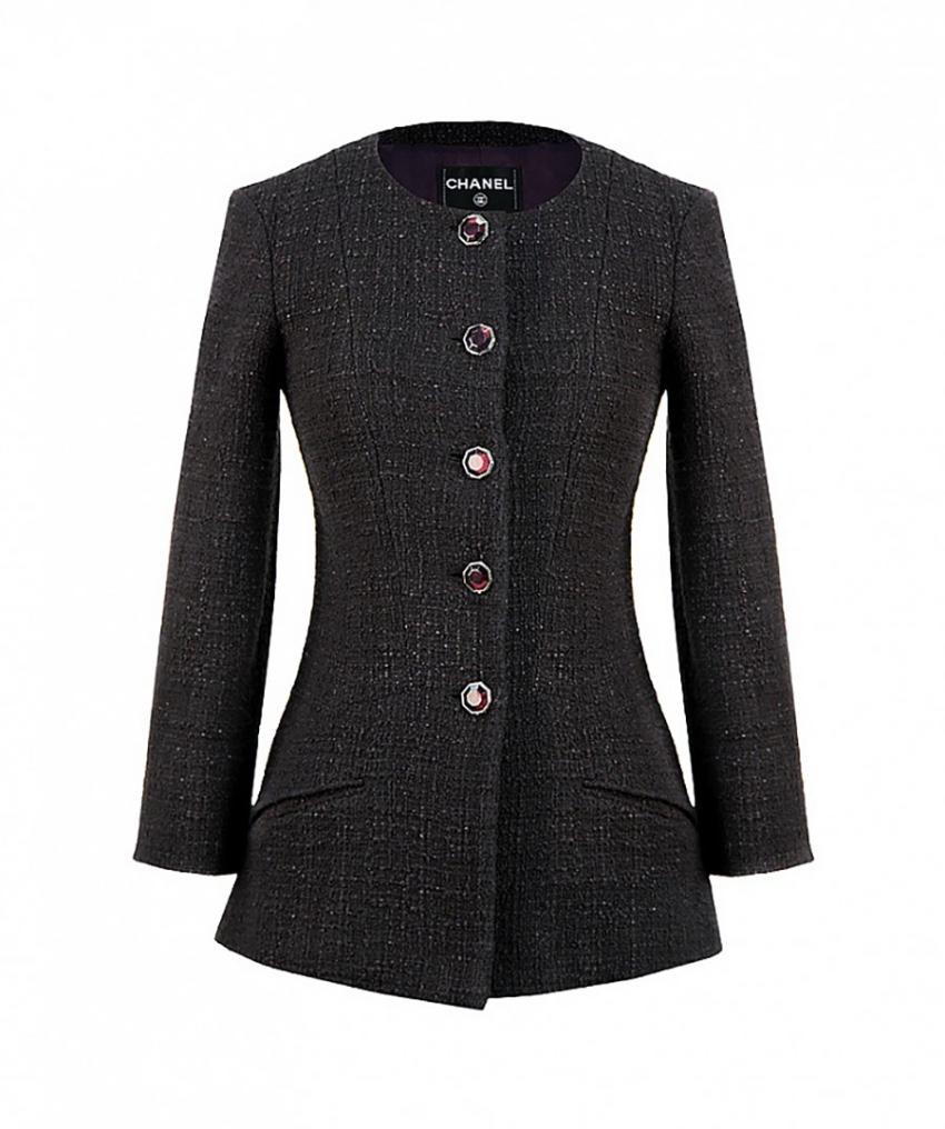 Chanel Purple Fantasy Tweed Metiers D'Art Jacket