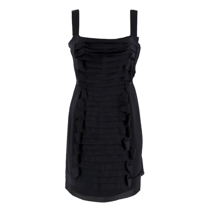 Philosophy di Alberta Ferretti Black Silk Mini Dress