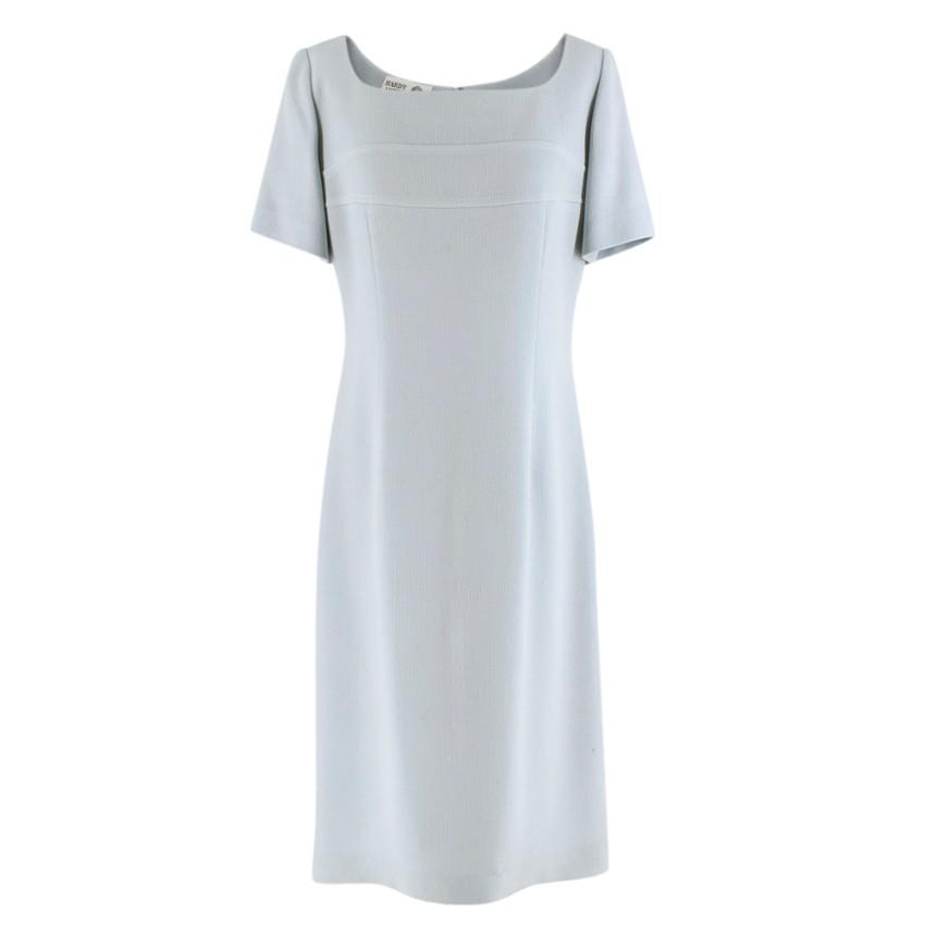 Hardy Amies Wool Pastel Blue Dress