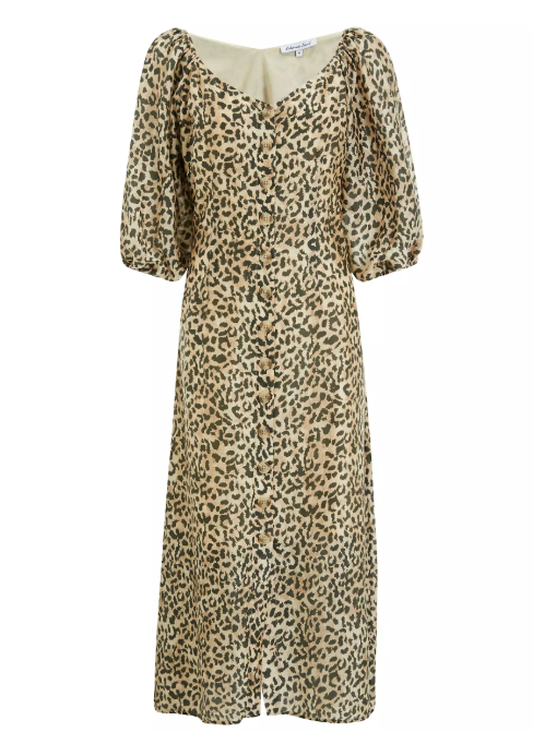 Lily and Lionel Rowan Animal Print Midi Dress
