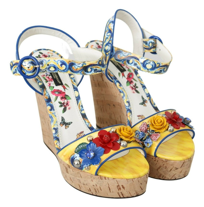 Dolce & Gabbana Embellished Majolica Wedges