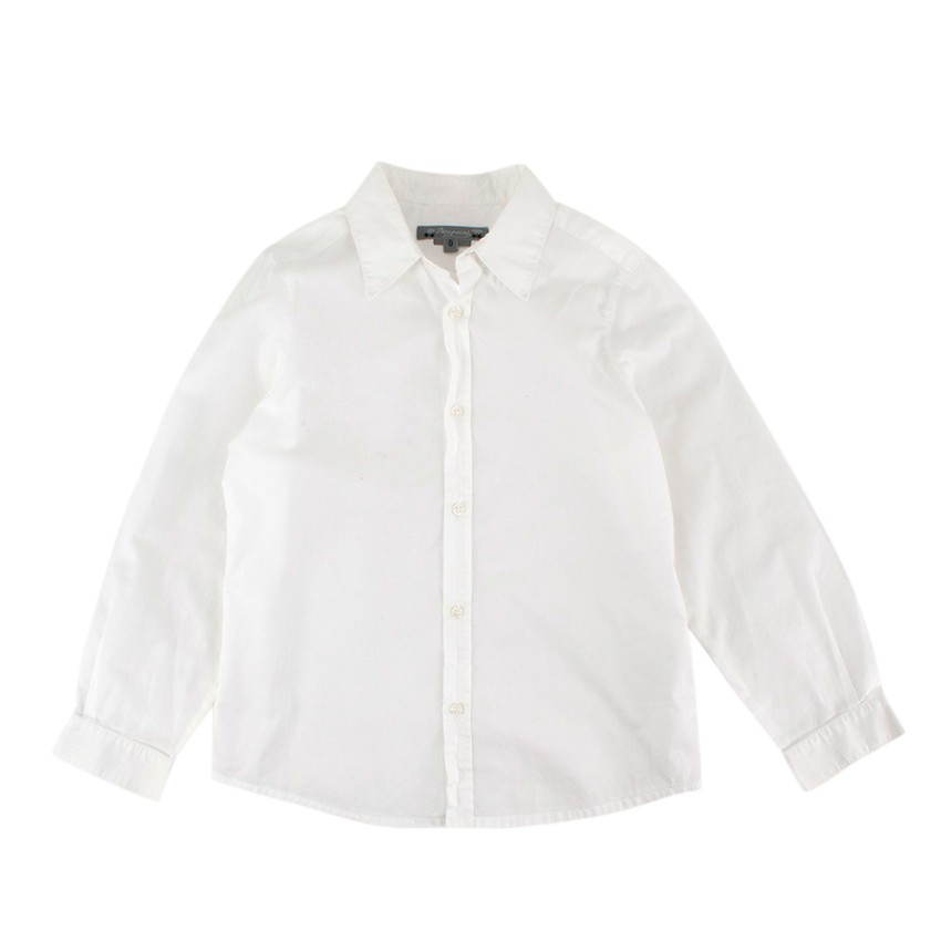 Bonpoint White Cotton Long Sleeve Shirt