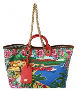 Dolce & Gabbana Cannes Capri Shopping Tote