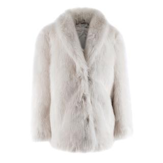 & Other Stories Beige Short Fur Coat