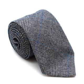 Fox Brothers Grey Checkered Cashmere Blend Tie