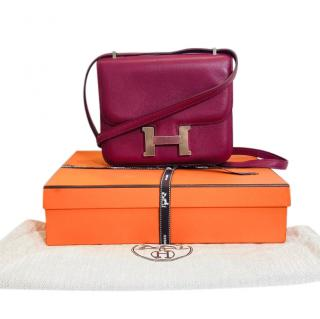 Hermes Rubis Leather Mini Constance 18 PHW