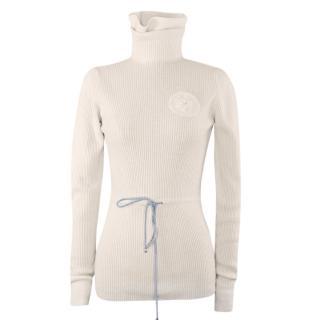 Chanel CC Edelweiss Ribbed Wool Paris/Salzburg Roll Neck Jumper