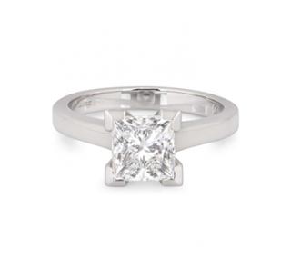 Bespoke 18ct White Gold Diamond Solitaire Ring