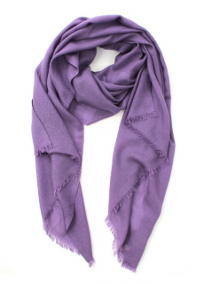 Loro Piana Purple Cashmere & Silk Scarf