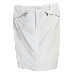 Ralph Lauren Black Label White Zip Detail Skirt