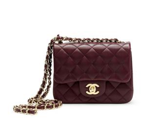 Chanel Burgundy Lambskin Mini Classic Flap