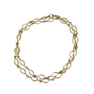 Dior Vintage Gold Plated Chain Necklace