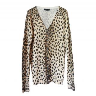 Alexander McQueen Leopard Print Vintage Cardigan