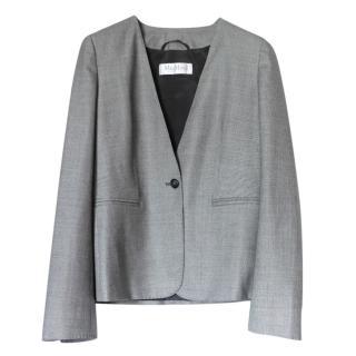 Max Mara Grey Wool Blend Blazer