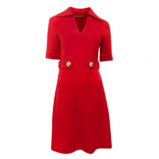 Emilio Pucci Red Wool Dress
