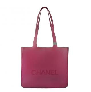 Chanel Limited Edition Pink Jelly Tote Bag