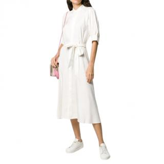 Polo Ralph Lauren broadcloth tie-waist dress