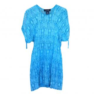 Isabel Marant Blue Runway Embroidered Dress