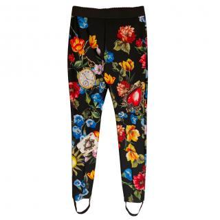 Dolce & Gabbana Floral Stirrup Leggings