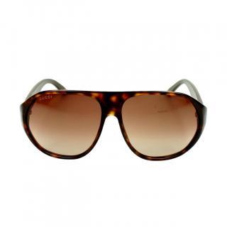 Gucci Tortoiseshell Pilot Sunglasses
