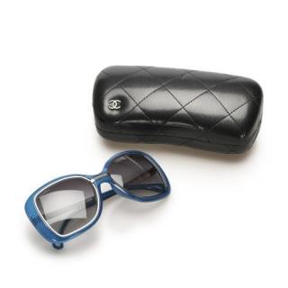 Chanel Blue Acetate Square Tinted Sunglasses