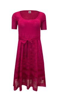 M Missoni Pink Knit Scoop Neck Dress