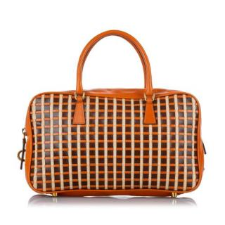 Prada Vintage Leather Bauletto Tote Bag