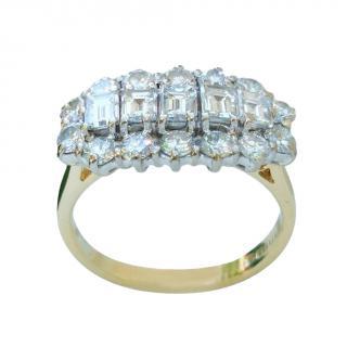 Bespoke white diamond cluster ring