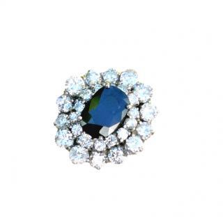 Bespoke Sapphire & Diamond 18ct White Gold Ring