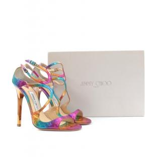 Jimmy Choo Multicolored Strappy Lance Sandals