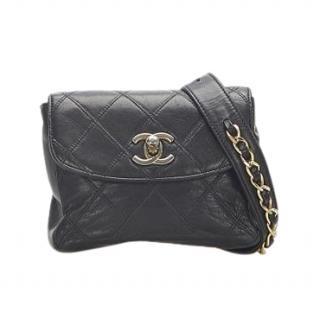 Chanel Vintage Lambskin Matelasse Waist Bag