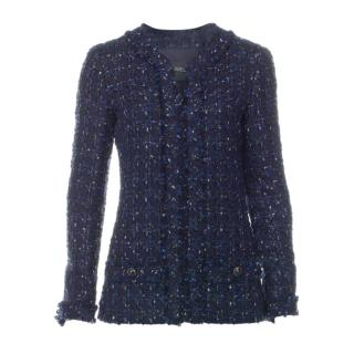 Chanel Blue Fantasy Tweed Lurex Jacket