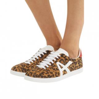 Aquazzura Leopard Print The A Low Sneakers