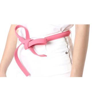 Ermanno Scervino Pink Self Tie Belt - Size 75
