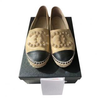 Chanel Bi-Colour Embellished CC Espadrilles