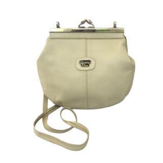 Dior Vintage Cream Lambskin Crossbody Bag