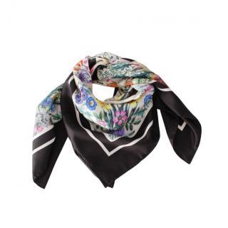 Gucci Floral Print Silk 90cm Square Scarf