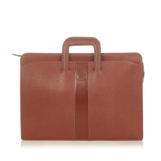 Burberry Vintage Grained Leather Briefcase