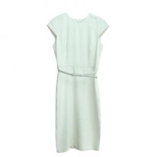 Max Mara Pinstripe Silk & Linen Pencil Dress