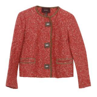 Isabel Marant Burgundy Tweed Jacket