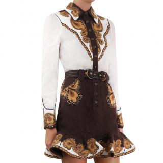 Zimmermann Embellished Zippy Dandy Runway Mini Dress