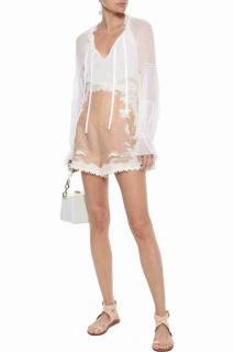 Zimmermann Silk & Linen Corsage Lily high Waist Shorts