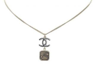Chanel Lace 'CC' Logo Square necklace