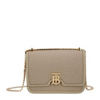 Burberry beige leather Medium Quilted Monogram Shoulder Bag