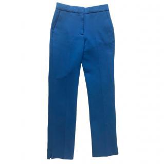 Victoria, Victoria Beckham Straight Leg Blue Tailored Trousers