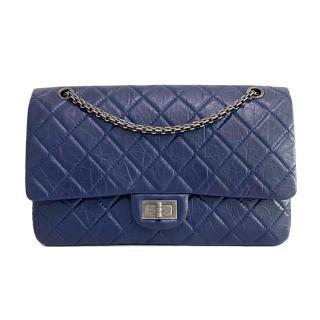 Chanel Blue Aged Calfskin 2.55 Reissue 227