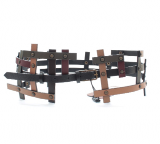 Missoni Caged Leather Waist Belt - Size 75