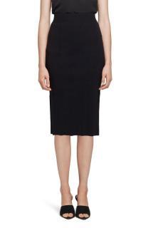 L'Agence Black Jessica Knit Midi Skirt