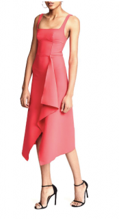 Dion Lee Pink Bustier Scarf Dress