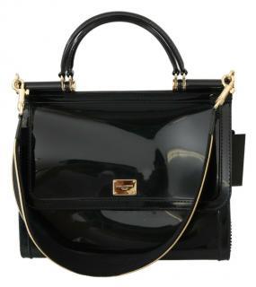 Dolce & Gabbana Black Patent Sicily Bag
